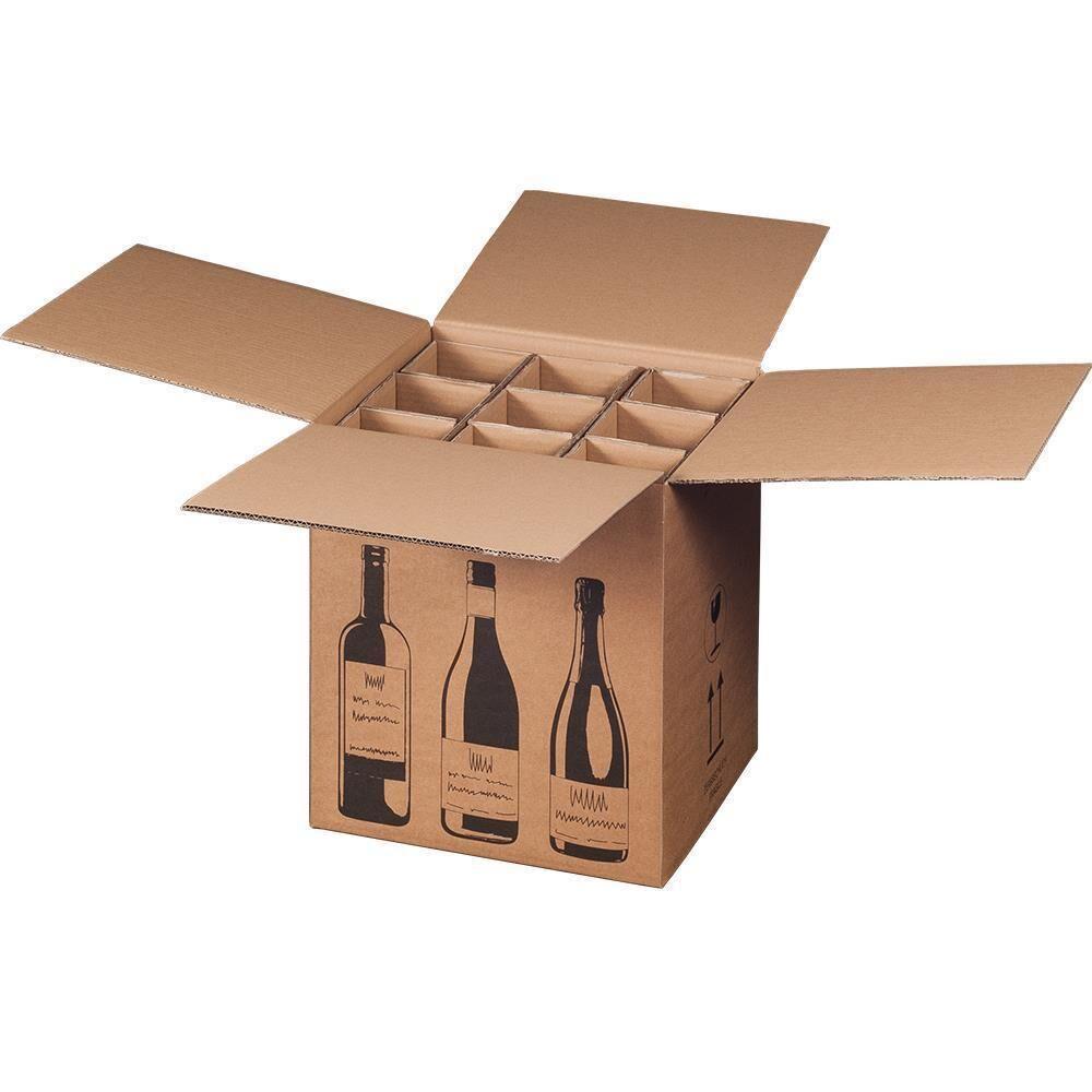 versandkarton f r flaschen 9 er mit 3 er einlage kaufen bei ro. Black Bedroom Furniture Sets. Home Design Ideas